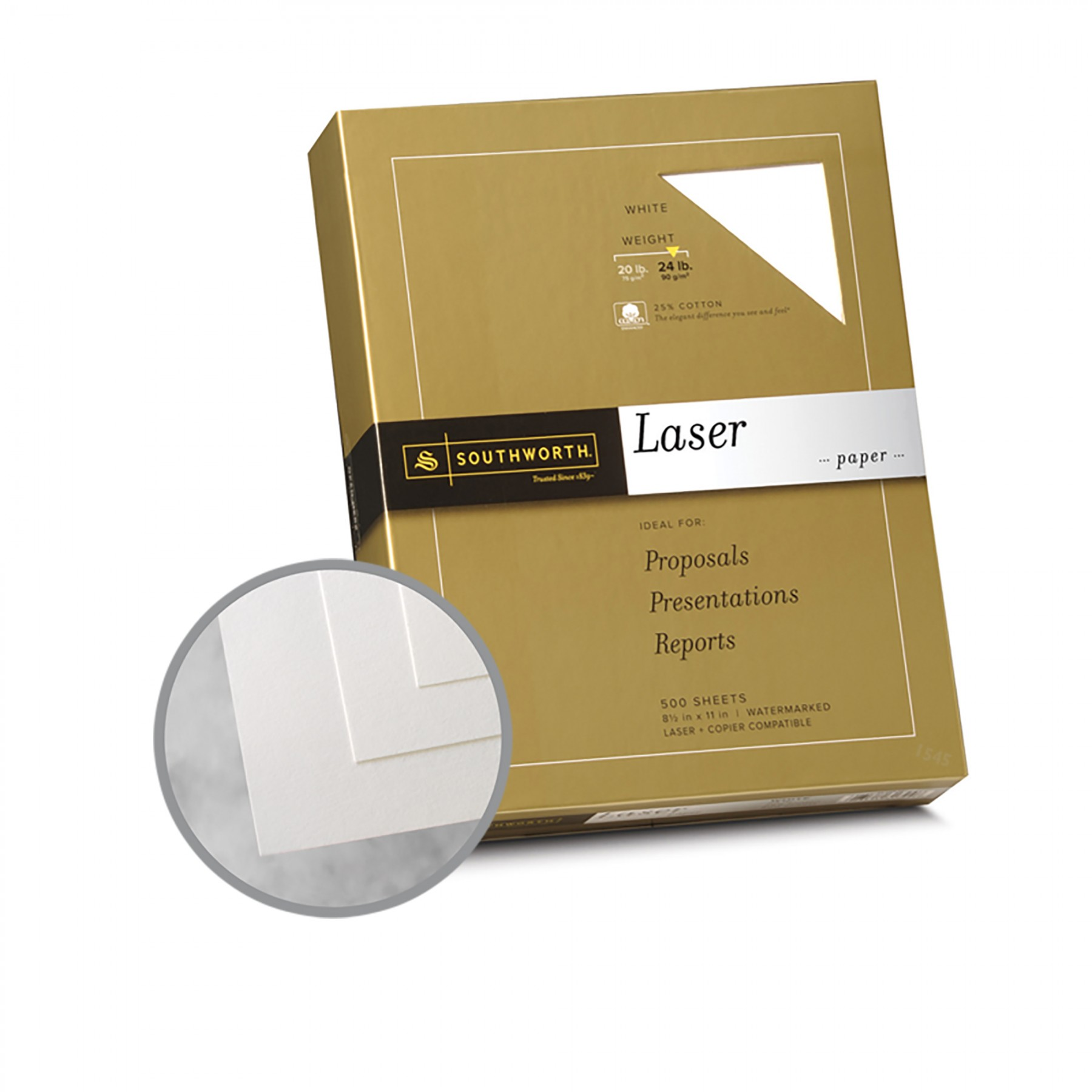 25 cotton 20 lb weight watermarked white paper Southworth diamond white 25% cotton business paper : • southworth diamond white business paper 20 lb basis weight - recycled - 25% recycled content.