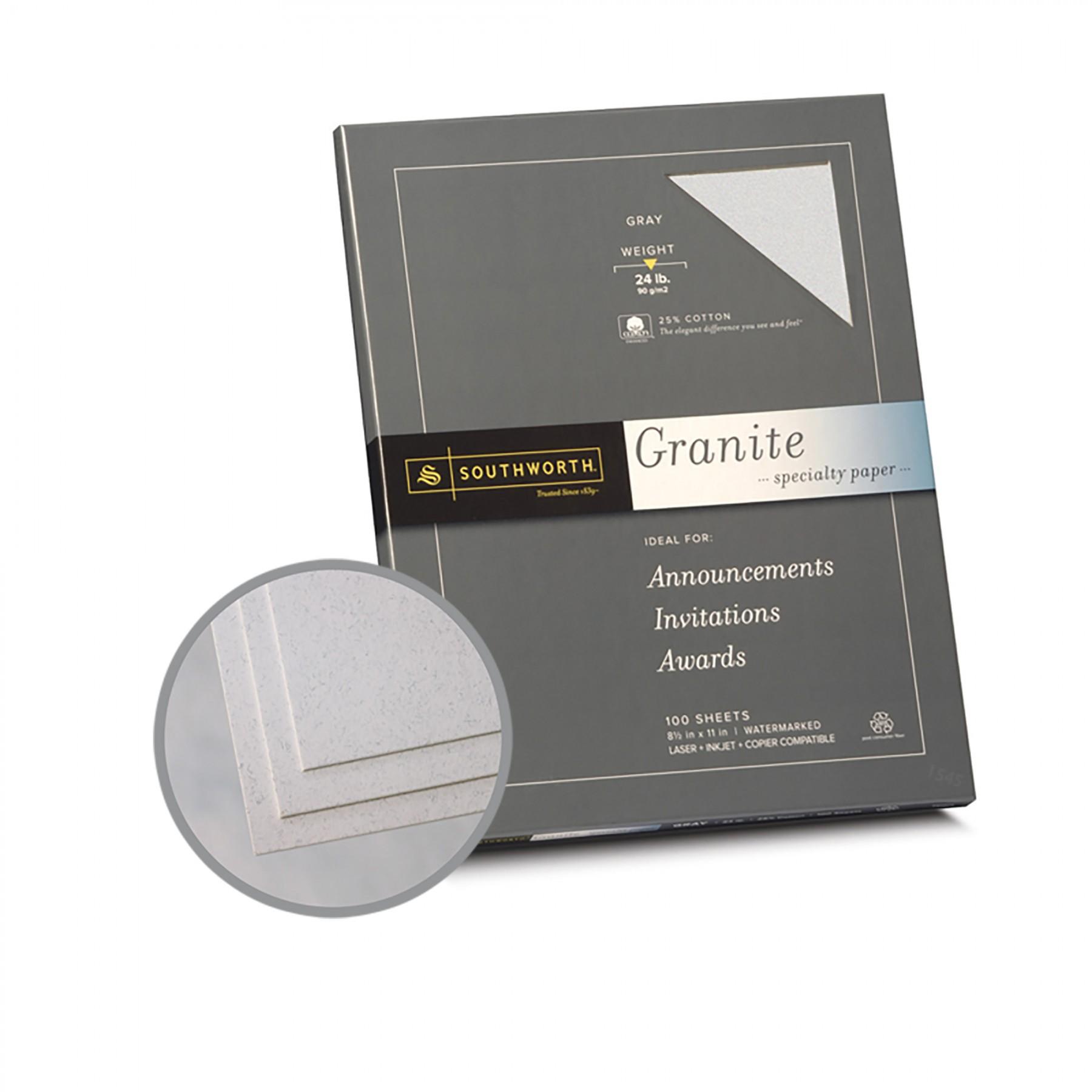 Gray Paper 8 1 2 X 11 In 24 Lb Bond Granite 50 Recycled
