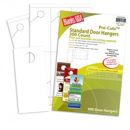 White Standard Door Hangers 12 X 18 In 80 Lb Cover Smooth Blanks