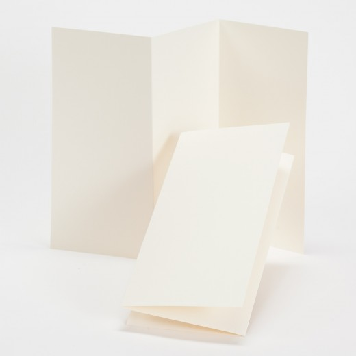fine impressions ecru tri fold program 4 x 8 folded 100 lb text