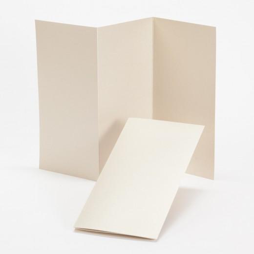 fine impressions gold shimmer tri fold program 4 x 8 folded 105 lb