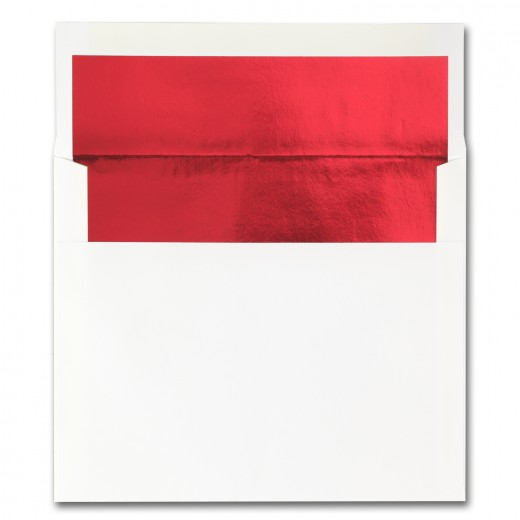 fine impressions stationery hi white envelopes with red liner a2
