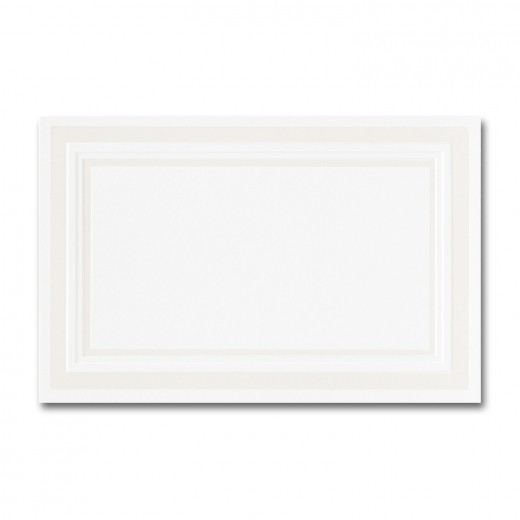 fine impressions pearl embossed border hi white place card