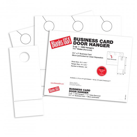 White Business Card Door Hangers 10 12 X 8 12 In 67 Lb Bristol