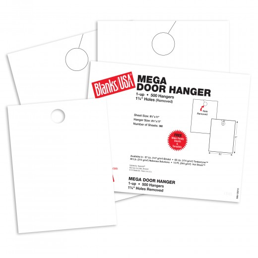 birch white mega door hangers 8 1 2 x 11 in 65 lb cover blanks