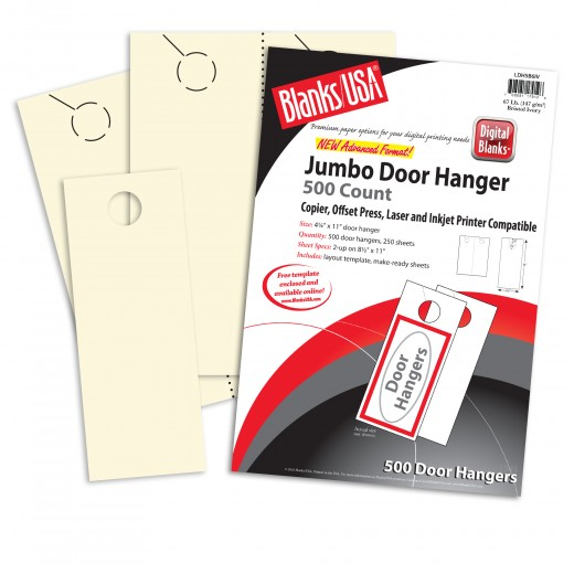 white jumbo door hangers 8 1 2 x 11 in 67 lb bristol blanks usa