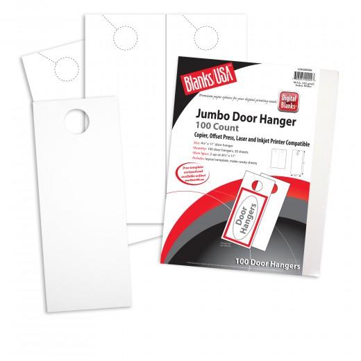 white jumbo door hangers  2 x 11 in 90 lb index