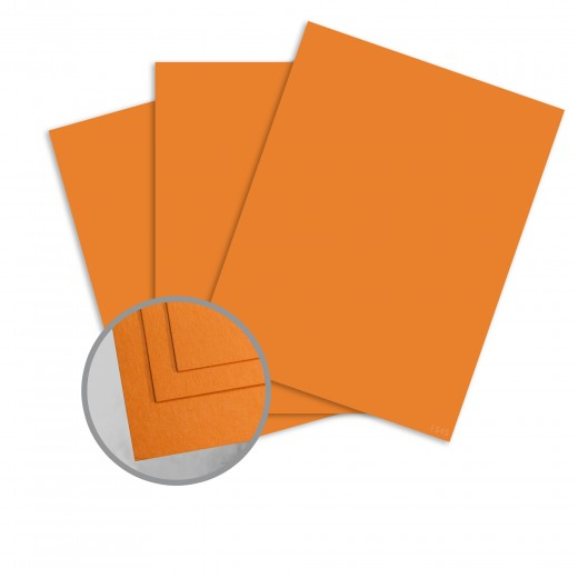 deep orange dream card stock 8 1 2 x 11 in 65 lb cover