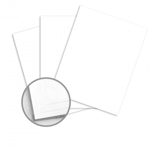 Earth Choice Colors Index Britewhite Card Stock - 8 1/2 x 11 in 110 lb  Index Smooth 250 per Package