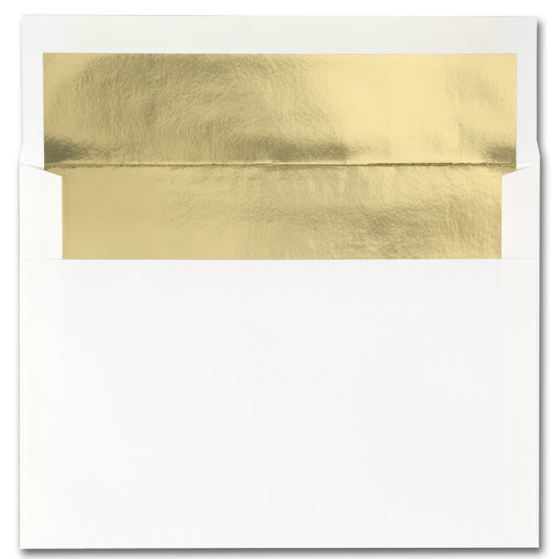 Fine Impressions Stationery Hi White Envelopes with Gold Liner ...