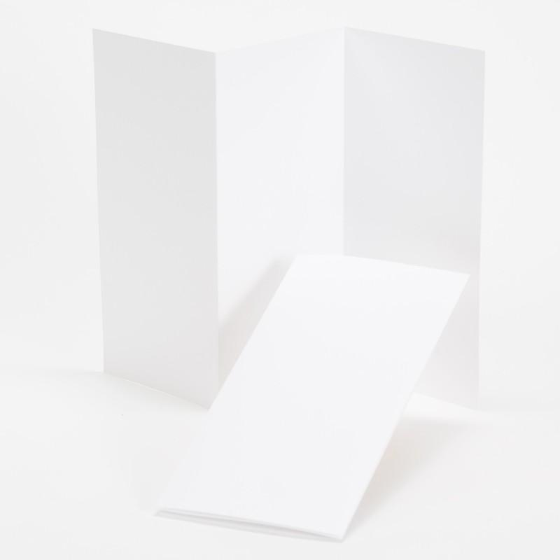 fine impressions hi white tri fold program 4 x 8 folded 100 lb