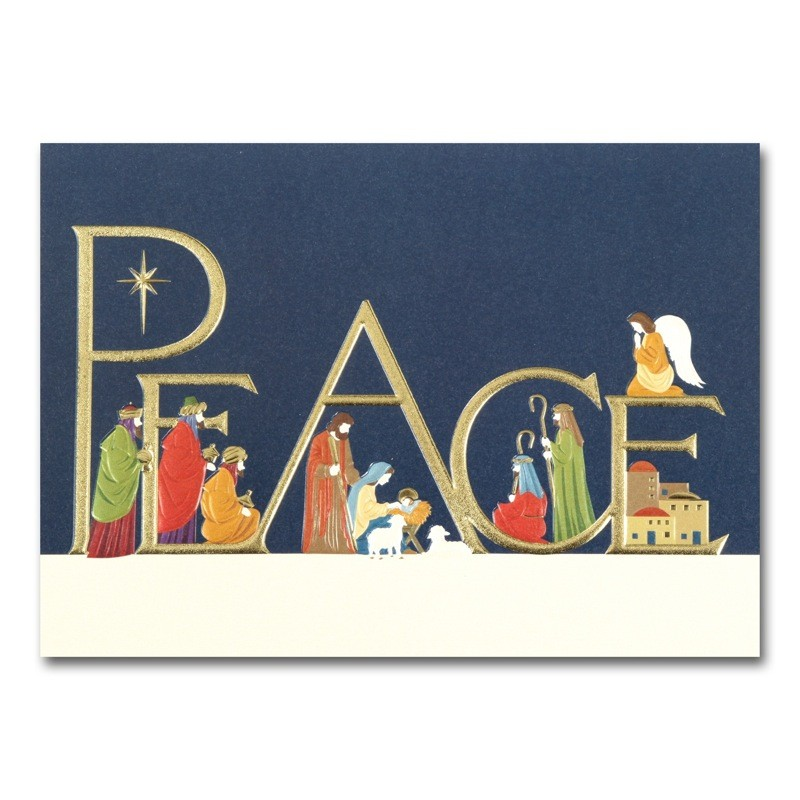 Peace Nativity Cards From The Fine Impressions Blank