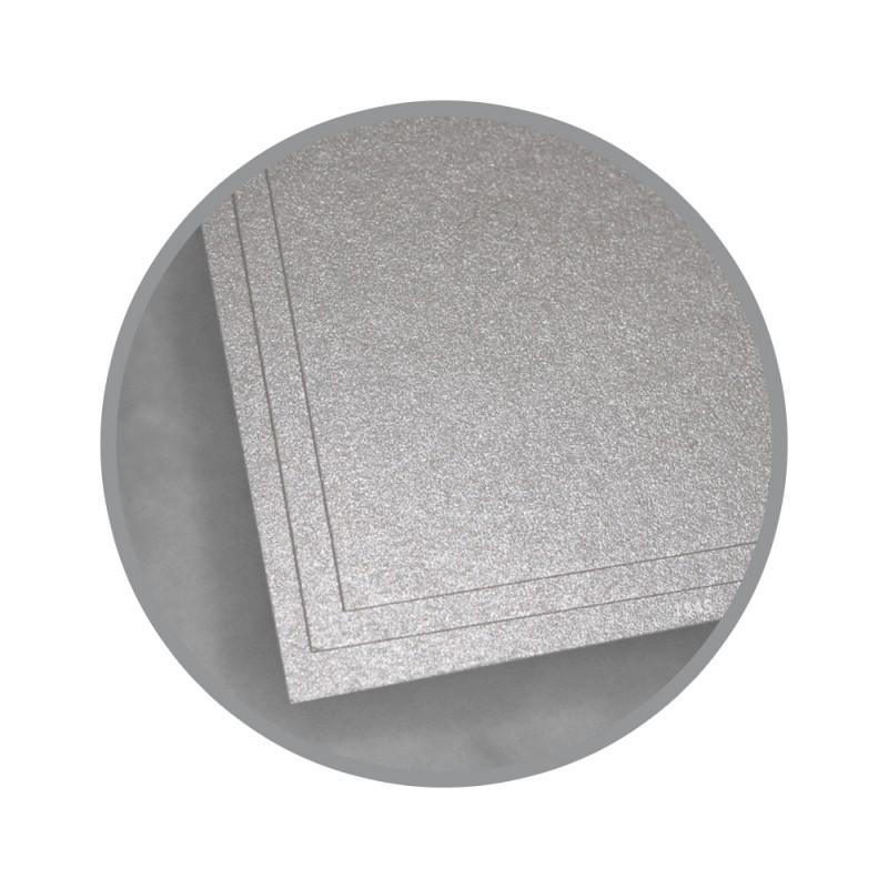 Silver Ore Card Stock - 8 1/2 x 11 in 98 lb Cover Metallic ...