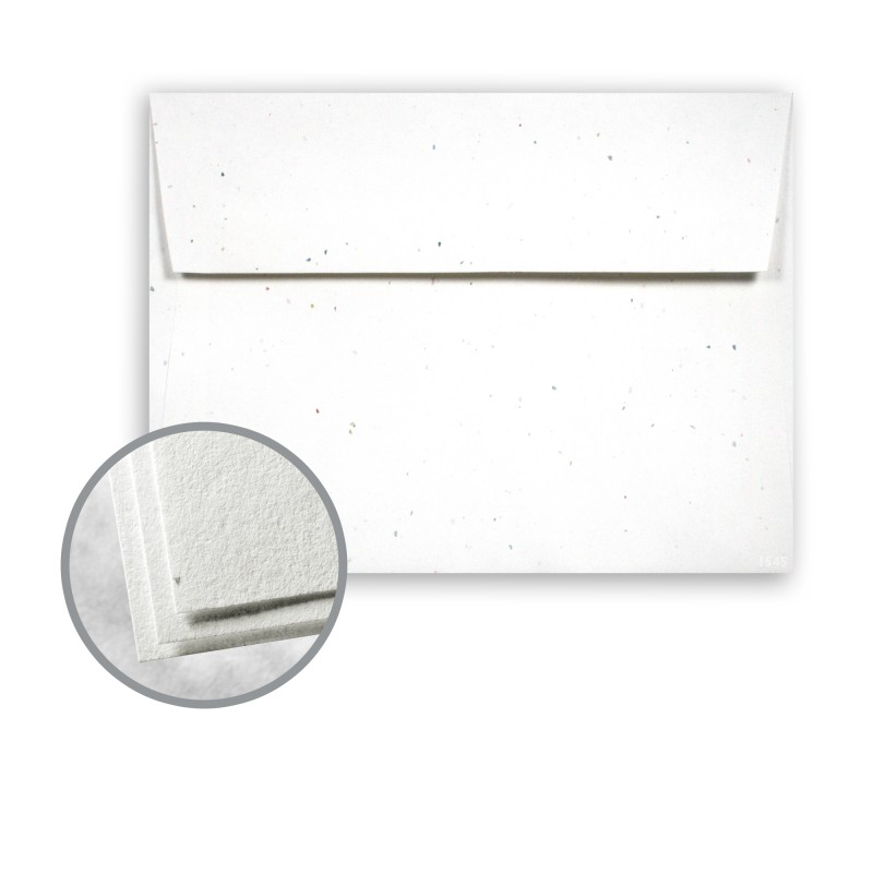 Stardust White (Flecked) Envelopes - A7 (5 1/4 X 7 1/4) 60 Lb Text
