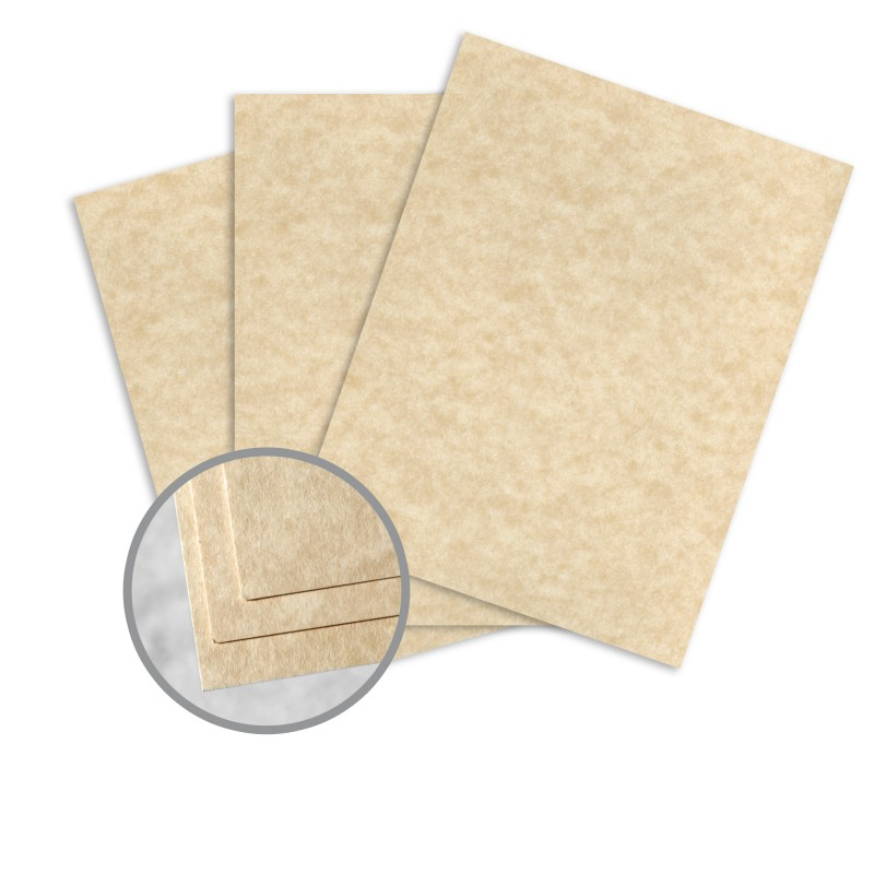 Aged Card Stock - 8 1/2 x 11 in 65 lb Cover Vellum 30% Recycled ...