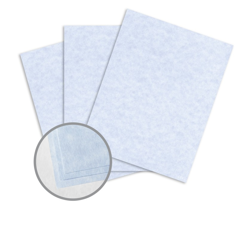 Blue Card Stock - 8 1/2 x 11 in 65 lb Cover Vellum 30% Recycled ...
