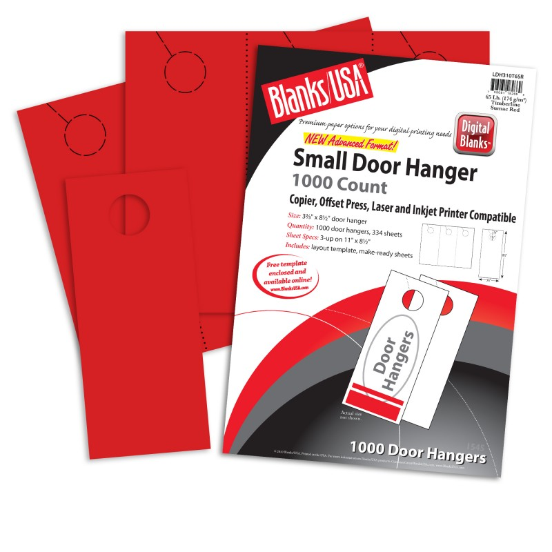 by Blanks USA  sc 1 st  The Paper Mill Store & Sumac Red Small Door Hangers - 11 x 8 1/2 in 65 lb Cover 30 ...