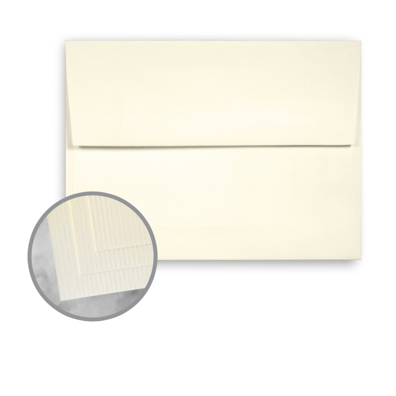 Baronial Ivory Envelopes - A7 (5 1/4 x 7 1/4) 75 lb Text Laid ... on