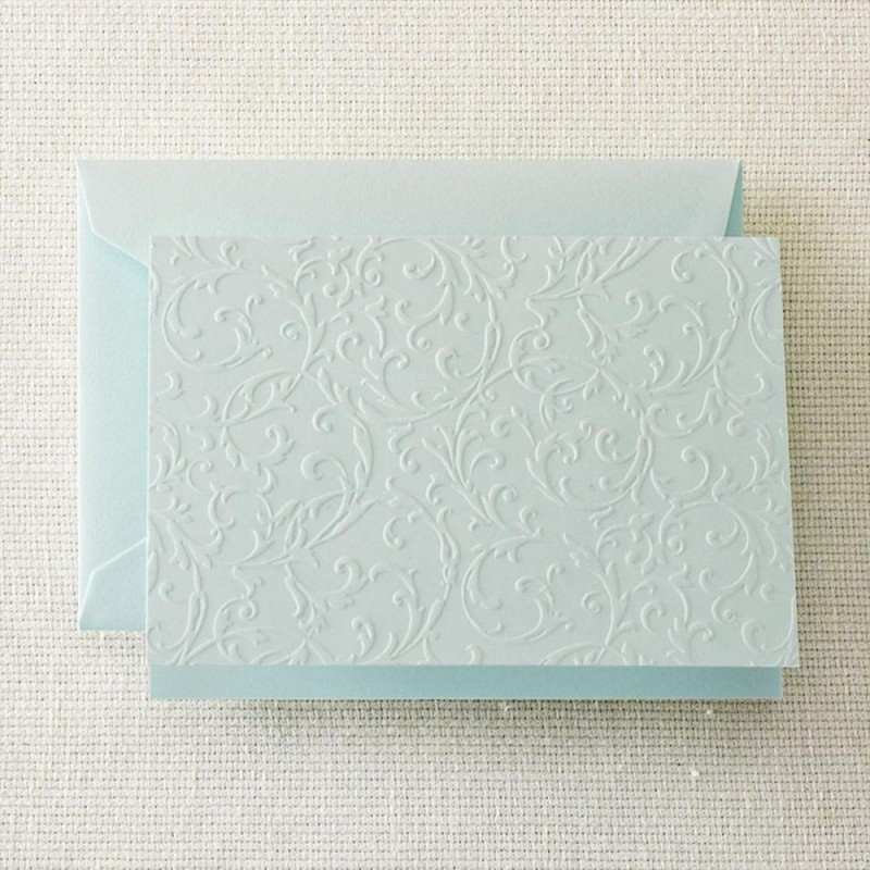 beach glass blind embossed note - Embossed Note Cards