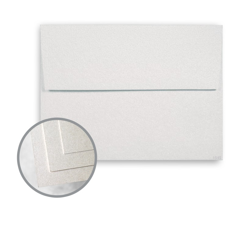 pearlized white envelopes a7 5 1 4 x 7 1 4 80 lb text smooth 30