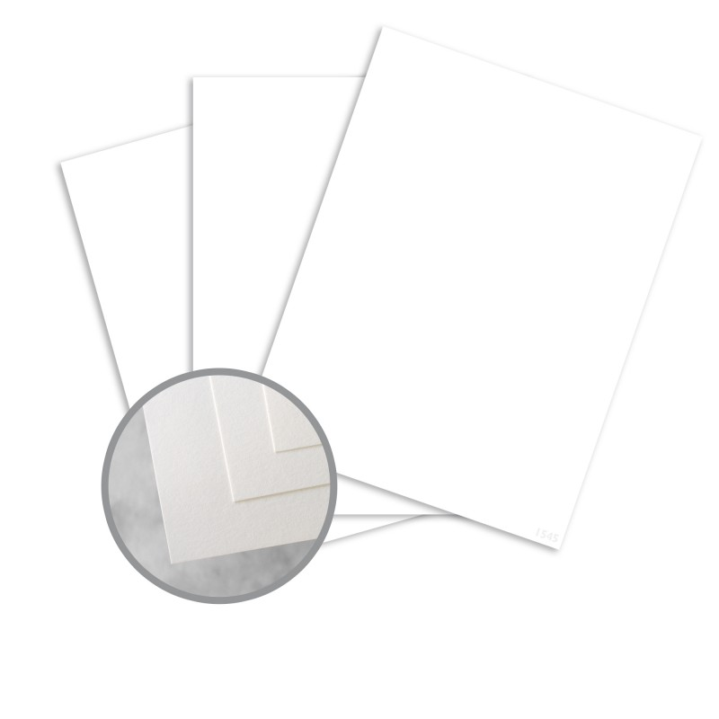 White Paper - 8 1/2 x 11 in 140 lb Index Smooth 30% Recycled ...