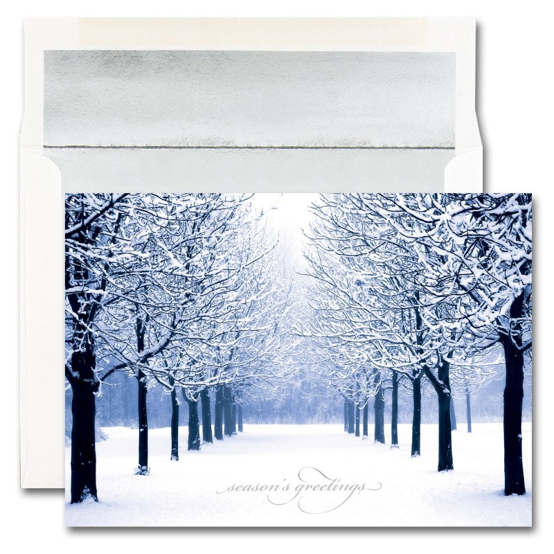 blue tree scene cards from the fine impressions blank