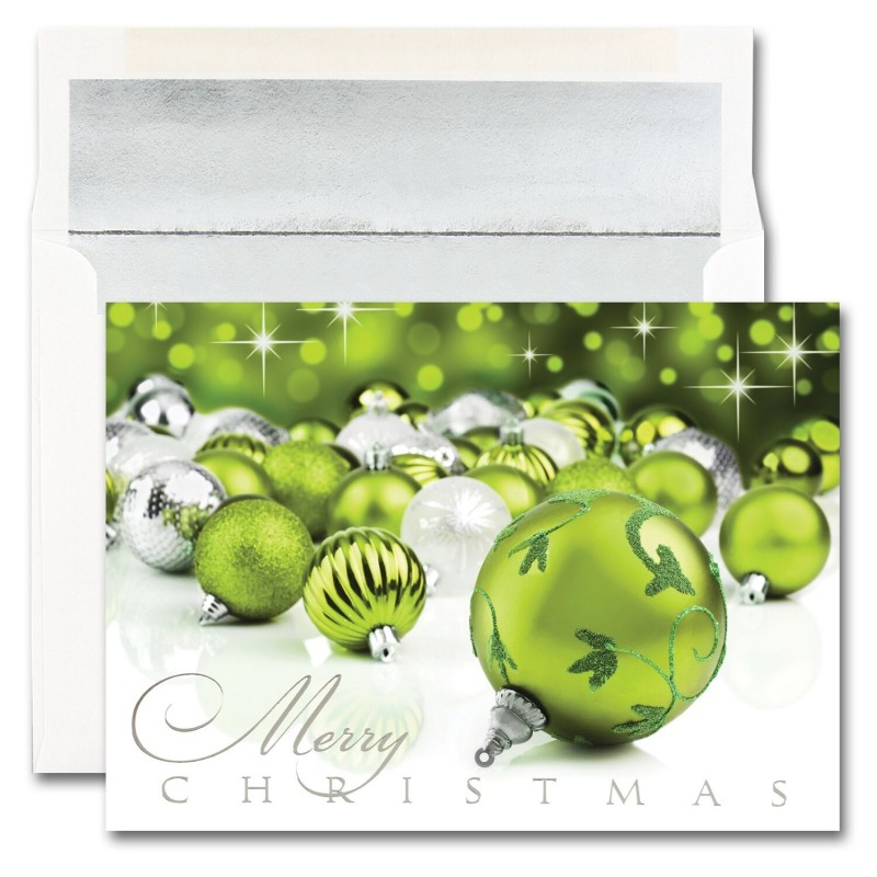 Merry Christmas Ornaments Cards From The Fine Impressions