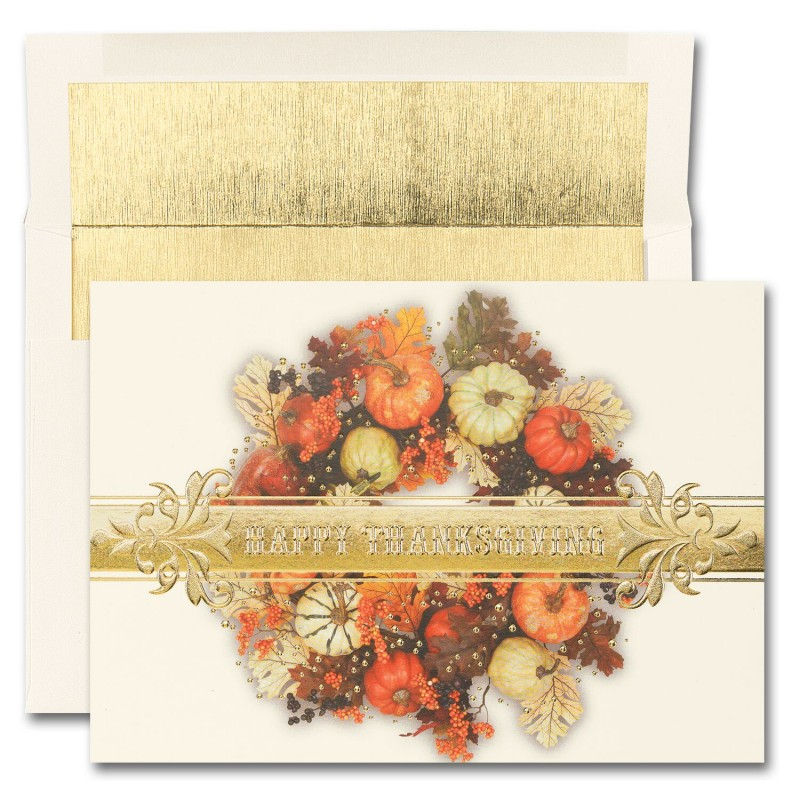 Thanksgiving Colorful Wreath Cards From The Fine