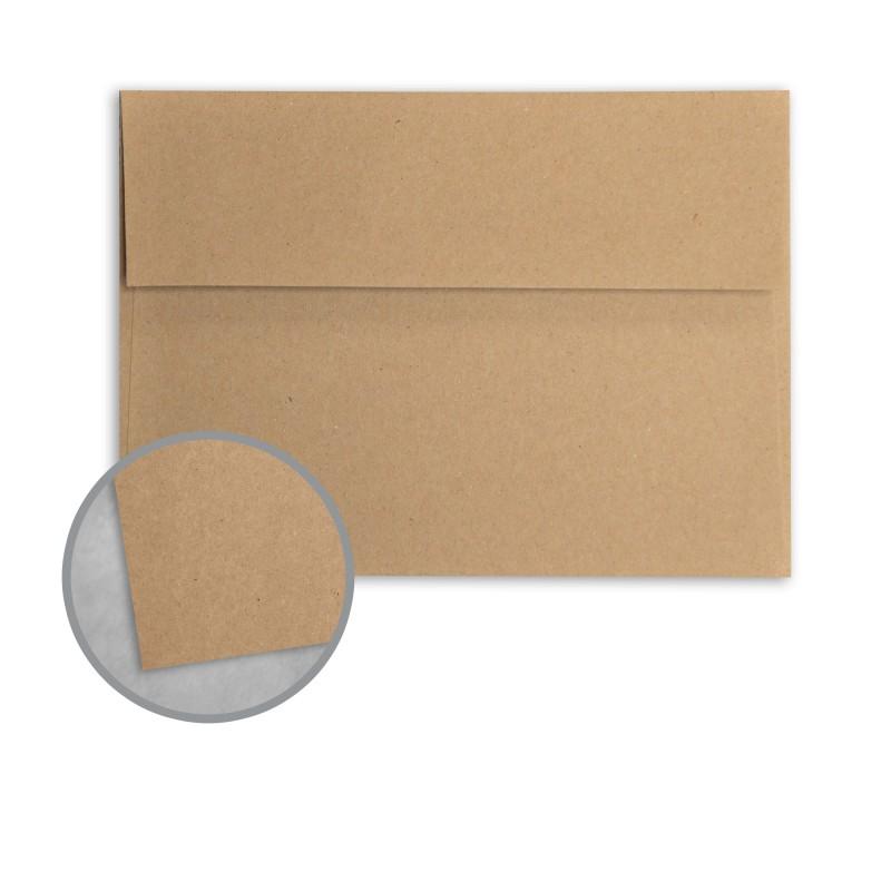 Brown/Grey Envelopes - A2 (4 3/8 x 5 3/4) 68 lb Text Kraft 100 ...