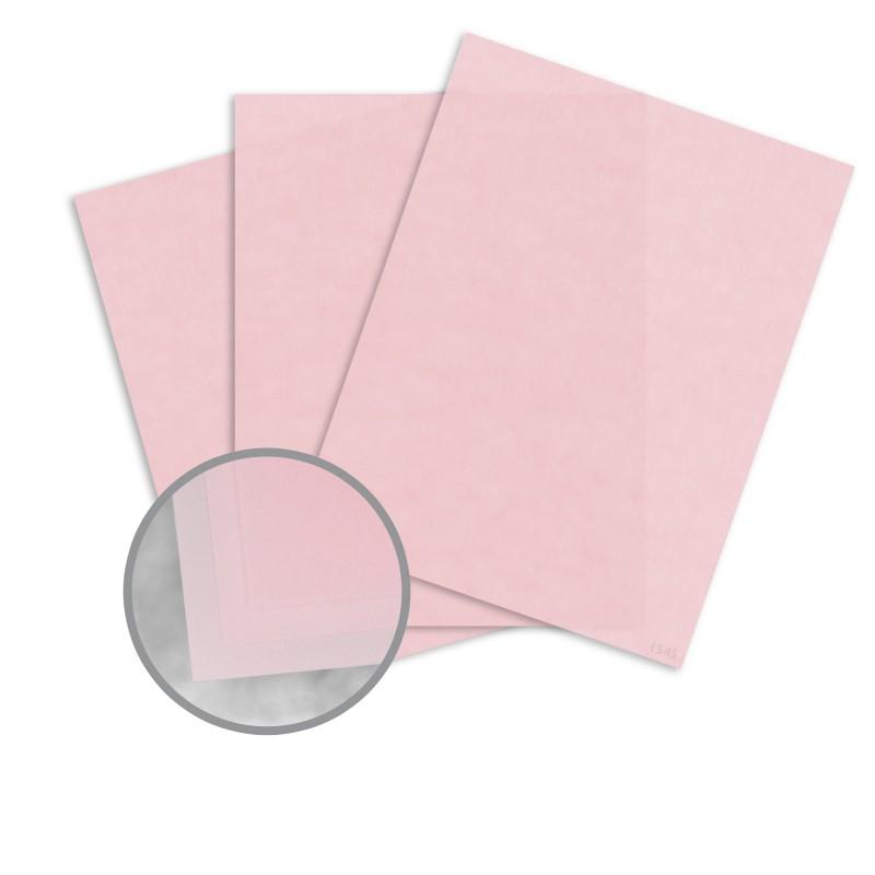 Pastel Pink Paper - 8 1/2 x 11 in 27 lb Bond Translucent Vellum ...