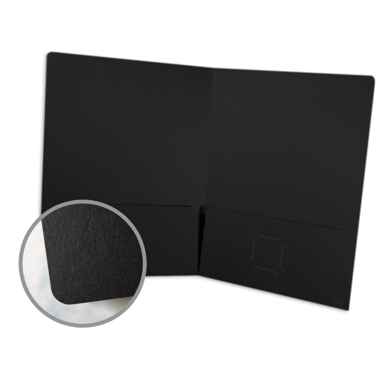 presentation folder 80 lb cover uncoated black vellum finish 9 x 12 folder 10 per