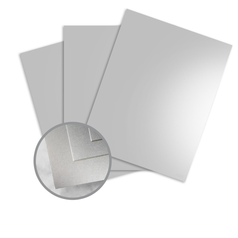 Silver Metallic Paper 40 X 26 In 12 Pt Cover Glossy