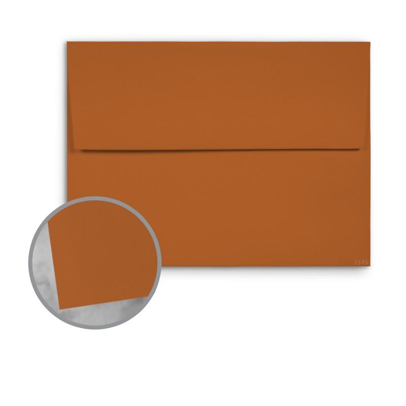 Leader Paper Products • Basis Antique Vellum. Dark Orange Envelopes