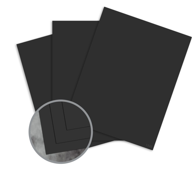 black paper  8 12 x 11 in 70 lb text extra smooth