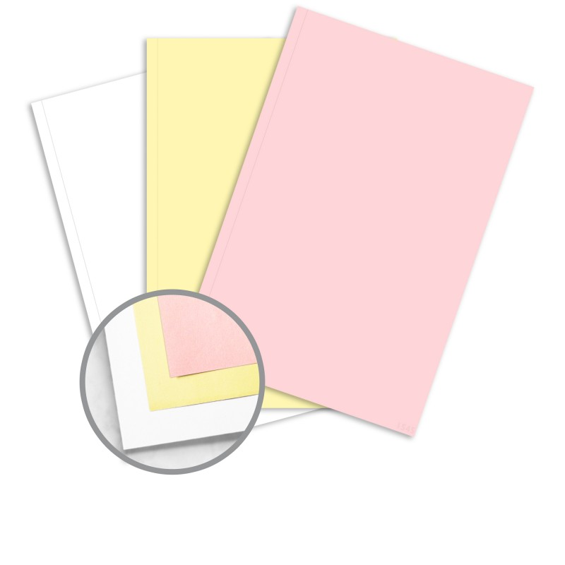 ncr label templates - multi colored carbonless paper 11 1 2 x 17 in 21 lb
