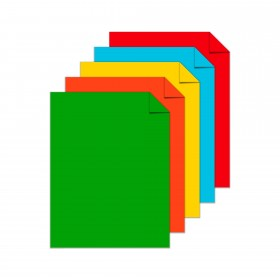 Astrobrights Eco 5-Color Assortment Cardstock - 8 1/2 x 11 in 65 lb Cover Smooth 250 per Package