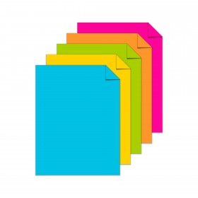 Astrobrights Bright 5-Color Assortment Cardstock - 8 1/2 x 11 in 65 lb Cover Smooth 50 per Package