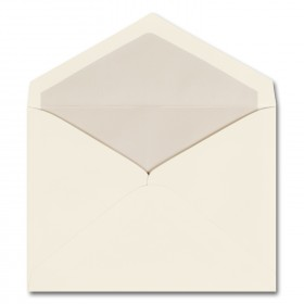 Fine Impressions Ecru Envelopes with Pearl Liner - Embassy Inner Non Gummed (5 1/8 x 6 7/8) 70 lb Text Vellum - 250 per Box