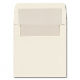 Fine Impressions Ecru Envelopes with Pearl Liner - Marquee Inner Non Gummed (5 3/4 x 5 3/4) 70 lb Text Vellum - 50 per Box