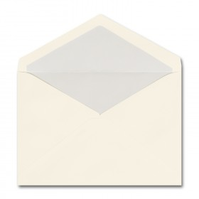Fine Impressions Ecru Envelopes with Pearl Liner - Tiffany Inner Non Gummed (5 3/4 x 8) 70 lb Text Vellum - 50 per Box