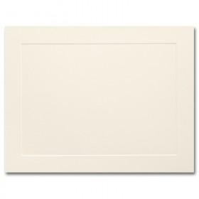 Fine Impressions Ecru Flat Panel Cards - A2 (4 1/4 x 5 1/2) 80 lb Cover Vellum - 250 per Box
