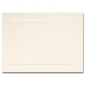 Fine Impressions Ecru Flat Panel Cards - A6 (4 5/8 x 6 1/4) 80 lb Cover Vellum - 250 per Box