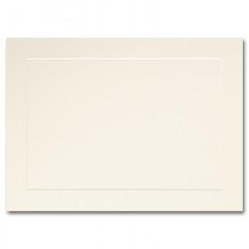 Fine Impressions Ecru Flat Panel Cards - A7 (5 1/8 x 7) 80 lb Cover Vellum - 50 per Box
