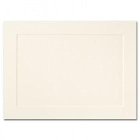 Fine Impressions Ecru Folded Panel Cards - A6 (4 5/8 x 6 1/4 folded) 80 lb Cover Vellum - 250 per Box
