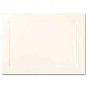 Fine Impressions Ecru Folded Panel Cards - A7 (5 1/8 x 7 folded) 80 lb Cover Vellum - 250 per Box