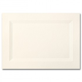Fine Impressions Ecru Folded Triple Panel Cards - A1 (3 1/2 x 4 7/8 folded) 100 lb Text Vellum - 250 per Box