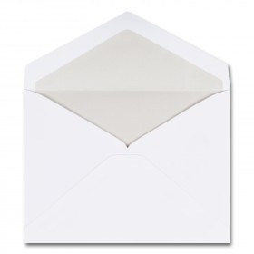 Fine Impressions Hi White Envelopes with Pearl Liner - Dixmore Inner Non Gummed (4 5/8 x 6 3/16) 70 lb Text Vellum - 250 per Box