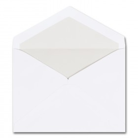 Fine Impressions Hi White Envelopes with Pearl Liner - Embassy Inner Non Gummed (5 1/8 x 6 7/8) 70 lb Text Vellum - 250 per Box
