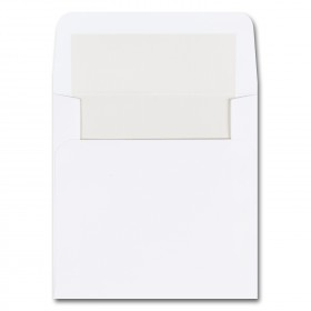 Fine Impressions Hi White Envelopes with Pearl Liner - Marquee Inner Non Gummed (5 3/4 x 5 3/4) 70 lb Text Vellum - 250 per Box