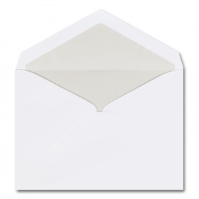 Fine Impressions Hi White Envelopes with Pearl Liner - Tiffany Inner Non Gummed (5 3/4 x 8) 70 lb Text Vellum - 50 per Box